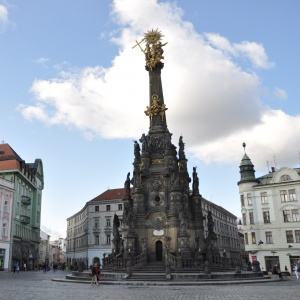 Ve kterém městě stojí Sloup Nejsvětější Trojice, který byl postaven v letech 1716 až 1754