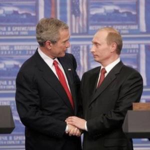 Sa odohralo stretnutie amerického a ruského prezidenta (Bush - Putin)