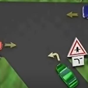 Ktoré auto prejde križovatkou ako posledné?