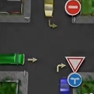 Ktoré auto prejde križovatkou ako druhé v poradí?