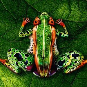 Bodypainting umelca Johannesa Stöttera. Koľko ľudí vidíš na obrázku?
