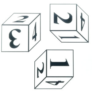 Na obrázku vidíš jednu kocku, no z rôznych strán. Ktoré číslo leží oproti 3?